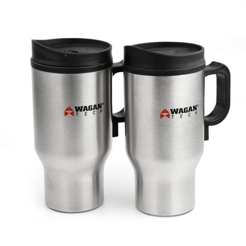 Image of Wagan 12V Travel Mug - Pair (Silver) in Color Box - TinyHouseSupplyShop.com