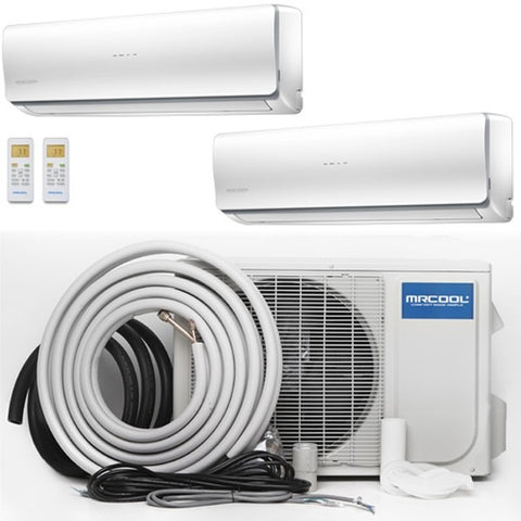 Image of MrCool Olympus 48K BTU 22.4 SEER Ductless Heat Pump Multi Split Bundle - TinyHouseSupplyShop.com