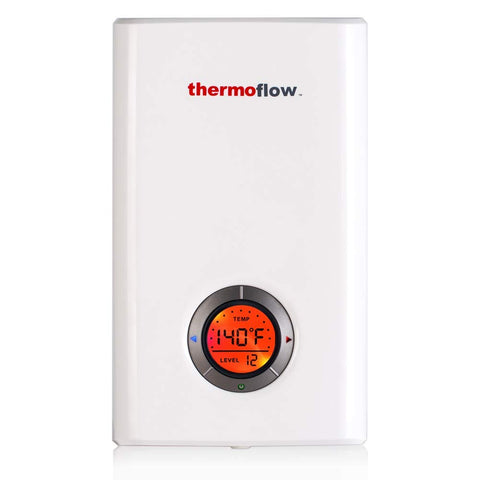 Thermoflow Elex 12 Tankless Water Heater Electric, 12kW at 240 Volts Instant Hot Water Heater with Self-Modulating Temperature Technology - TinyHouseSupplyShop.com