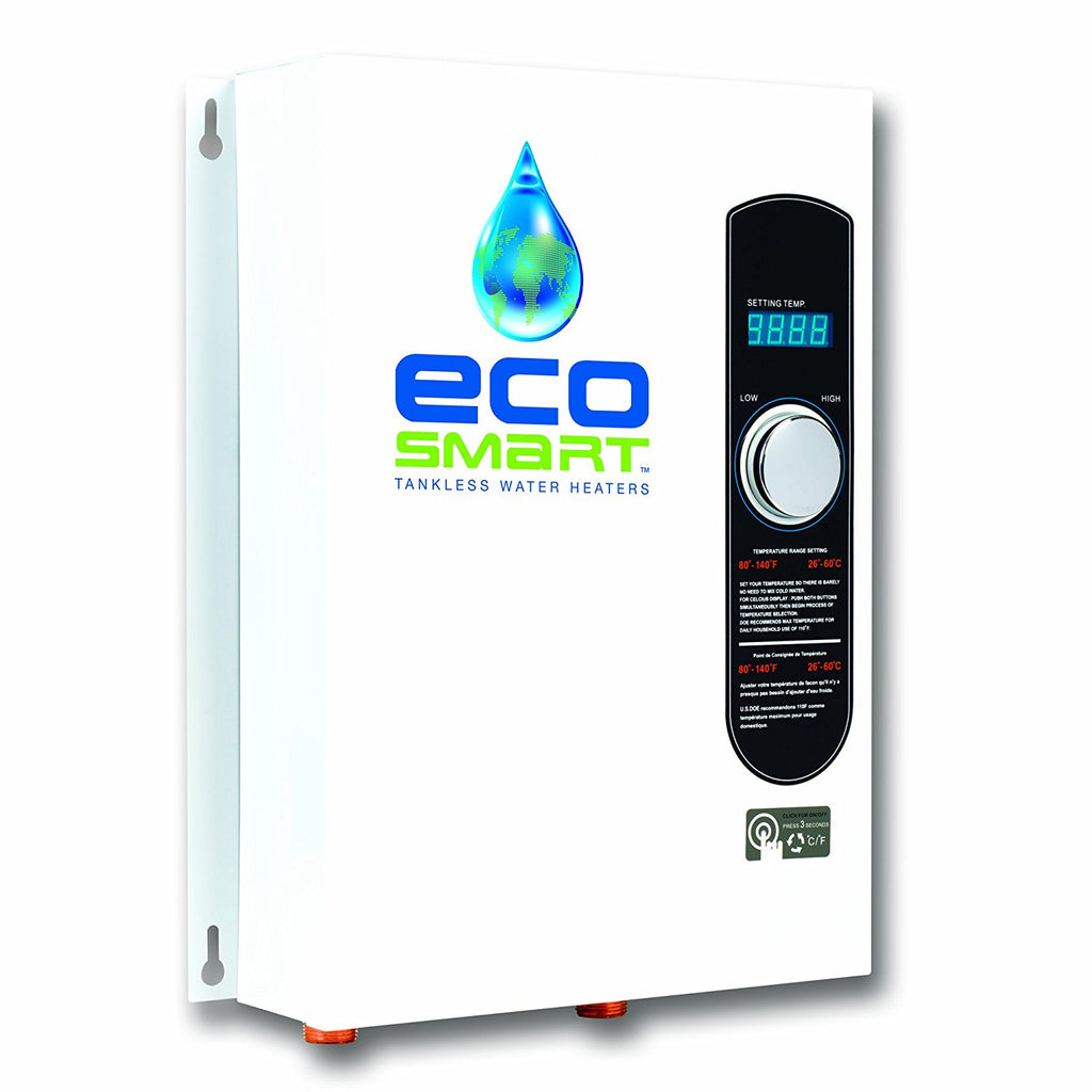 Ecosmart ECO 18 Electric Tankless Water Heater, 18 KW at 240 Volts with Patented Self Modulating Technology - TinyHouseSupplyShop.com
