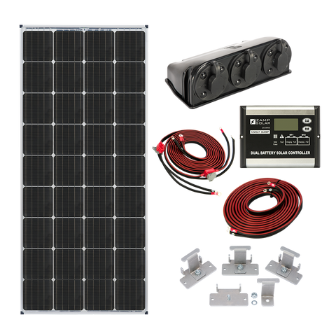 Zamp Solar 170 Watt Double Battery Deluxe Solar Kit - TinyHouseSupplyShop.com