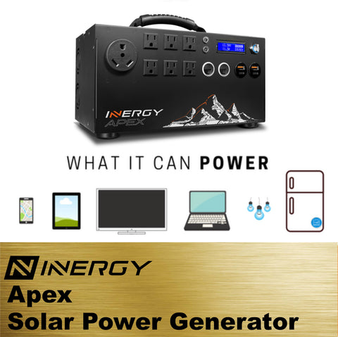 Image of Inergy Apex Solar Generator GOLD Kit With 5 Solar Storm Panels - TinyHouseSupplyShop.com