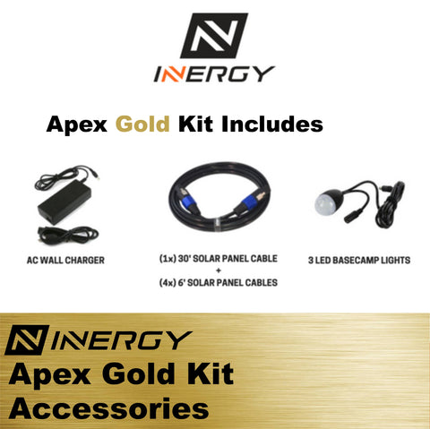 Image of Inergy Apex Solar Generator GOLD Kit With 5 Linx Solar Panels - TinyHouseSupplyShop.com