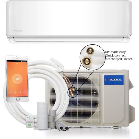 Image of MRCOOL DIY 18K BTU 16 SEER Mini Split Air Conditioner And Heat Pump - TinyHouseSupplyShop.com