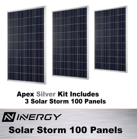 Inergy Apex Solar Generator SILVER Kit With 3 Solar Storm Panels - TinyHouseSupplyShop.com