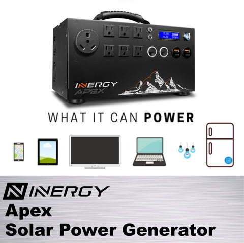 Image of Inergy Apex Solar Generator SILVER Kit With 3 Linx Solar Panels - TinyHouseSupplyShop.com