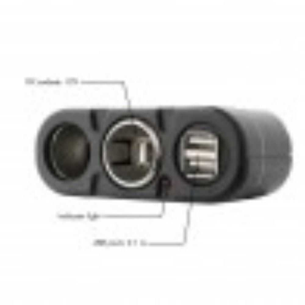 Wagan 2 Way Socket plus USB - TinyHouseSupplyShop.com