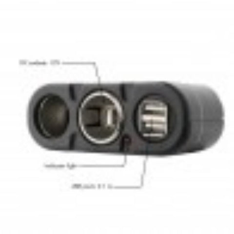 Image of Wagan 2 Way Socket plus USB - TinyHouseSupplyShop.com