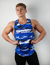 Load image into Gallery viewer, Camo Blue Hybrid Tank Cutoff