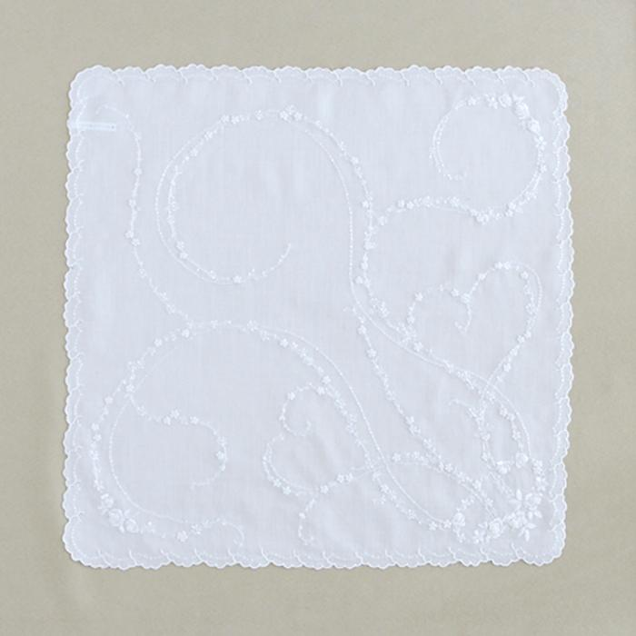 Rose hand embroidery(White)