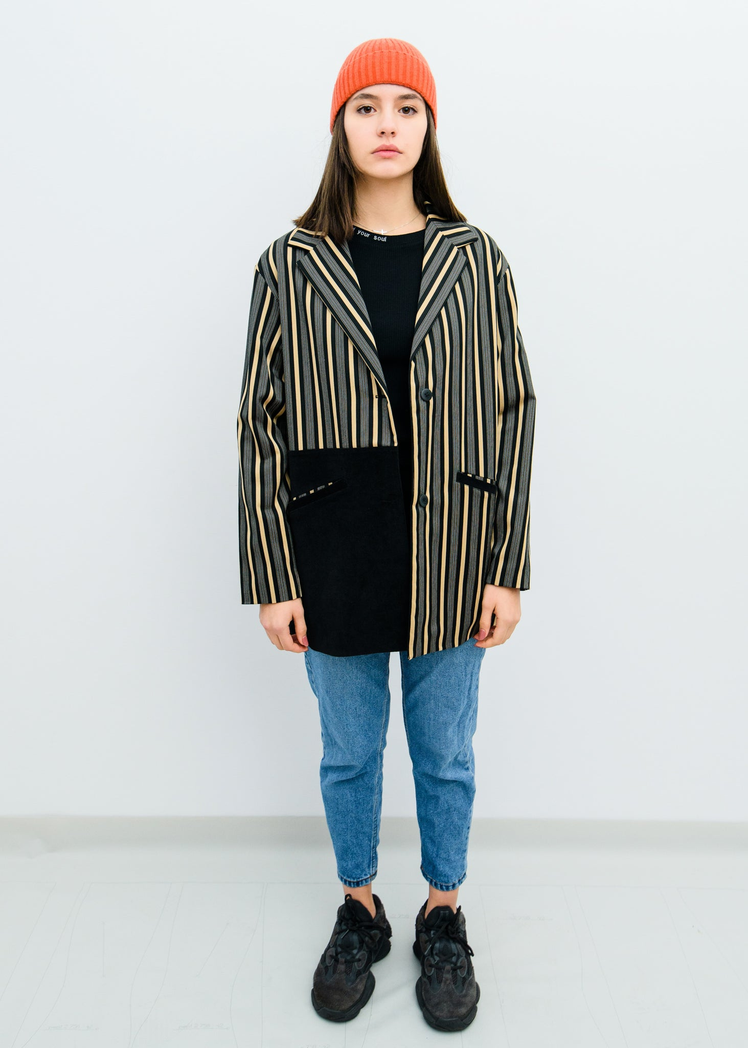 GOLDEN STRIPES COAT