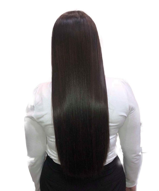 #1B Dark Brown Hair Extensions - 100% Russian Remy High Quality Tape Hair Extensions