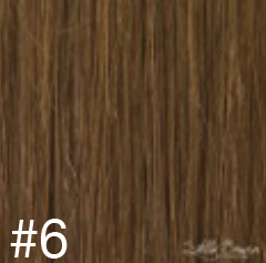 #6 Brown Hair Extensions - 100% Russian Remy High Quality Clip In Extensions