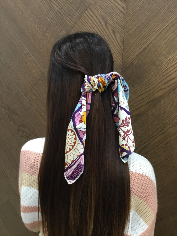 Pretty Silk Hair Scarf