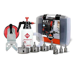 Rubi Tools drill bits and water feed system for porcelain tile