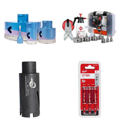 Diamond hole saws and drill bits for tile and stone