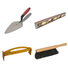 Professional mason's trowels and hand tools