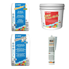 Thin set, adhesives, primer from Mapei and Schluter