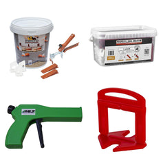 Tile leveling systems from Raimondi, Perfect Level Master, MLT and Rubi Tools
