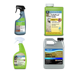 Tile and stone cleaners and sealers from Aquamix, StoneTech and UltraCare