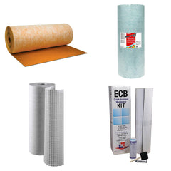 Uncoupling and crack isolation membrane rolls