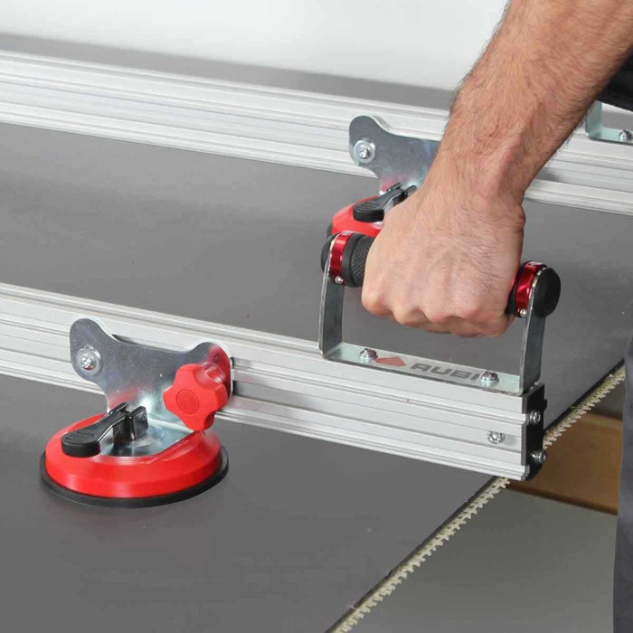 Rubi Slim Easytrans Thin Panel Transport Kit rubber grip handle makes it easier to handle large thin panel porcelain tile.