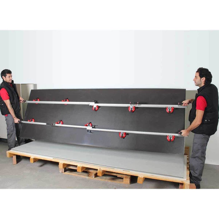 Rubi Slim Easytrans Thin Panel Transport Kit can be extended to easily handle up to almost 10 ft long material with just two people.