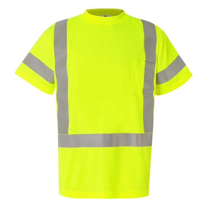 High Visibility Class 3 T-Shirt with Reflective Strip - Lime