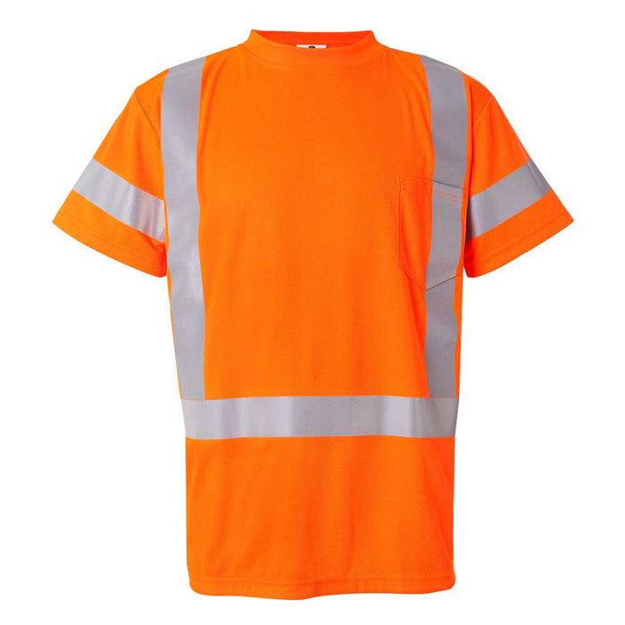 High Visibility Class 3 T-Shirt with Reflective Strip - Orange