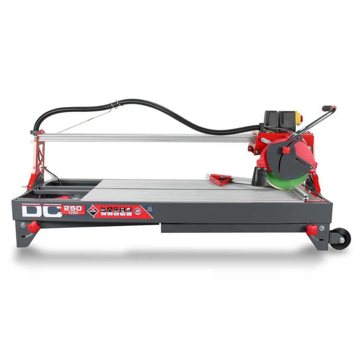 "Rubi DC 250-1200 48"" tile saw ready for transport this saw is used for cutting porcelain ceramic and other tile"