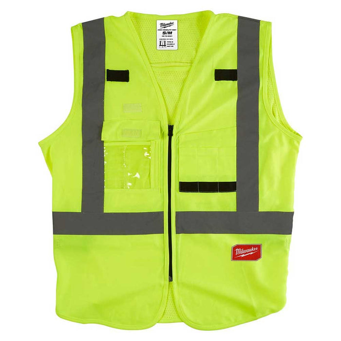 Milwaukee Tool High Visibility Safety Vest - Yellow