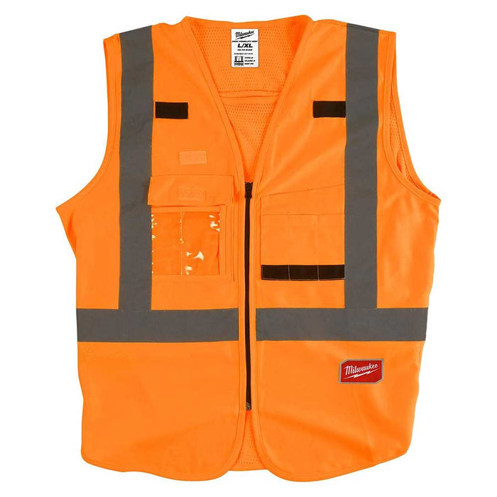 Milwaukee Tool High Visibility Safety Vest - Orange