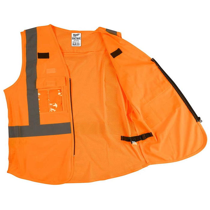 Milwaukee Tool High Visibility Safety Vest open