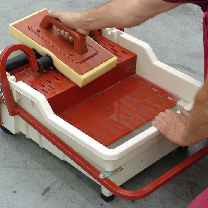 Raimondi Pedalo Washmaster Station is used for cleaning grout on walls