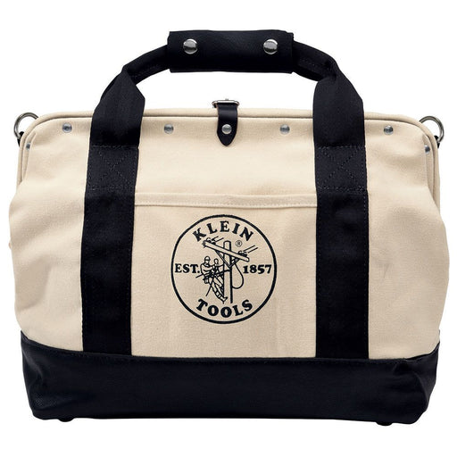 Klein Tools Canvas Tools Bag with Leather Bottom, 5003-18
