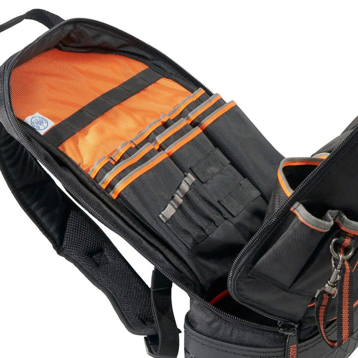 Klein Tools Tradesman Pro Tool Backpack, full zipper opening