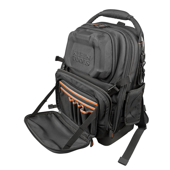 Klein Tools Tradesman Pro Tool Master Backpack, open front pocket