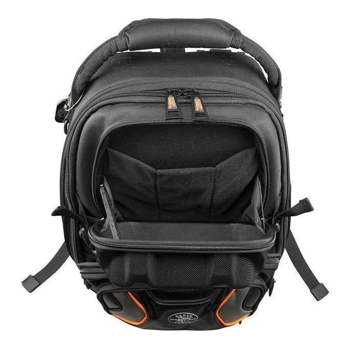 Klein Tools Tradesman Pro Tool Master Backpack, open top pocket
