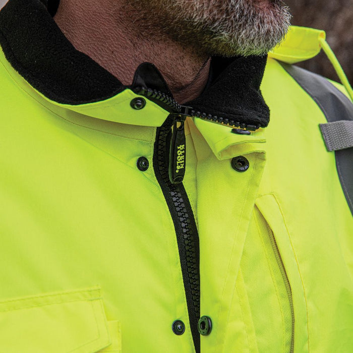 Klein High-Visibility  Bomber Jacket with high neck zipper