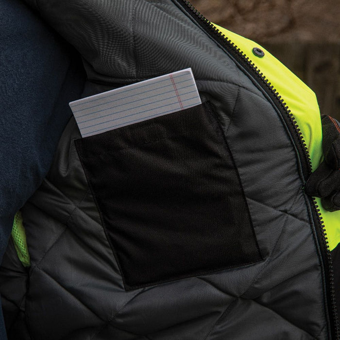 Klein High-Visibility  Bomber Jacket with inside pocket for note pads