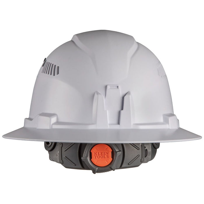Klein Tools Non-Vented Full Brim Hard Hat with Rechargeable Headlamp rear view