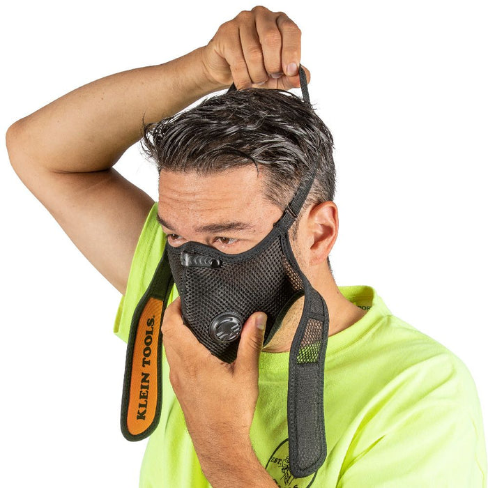 Easy on/off Klein Tools Reusable Face Mask