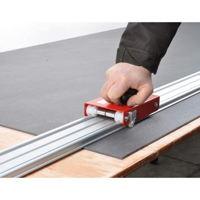 Cutting small or large ceramic tiles with Flash Line trolley