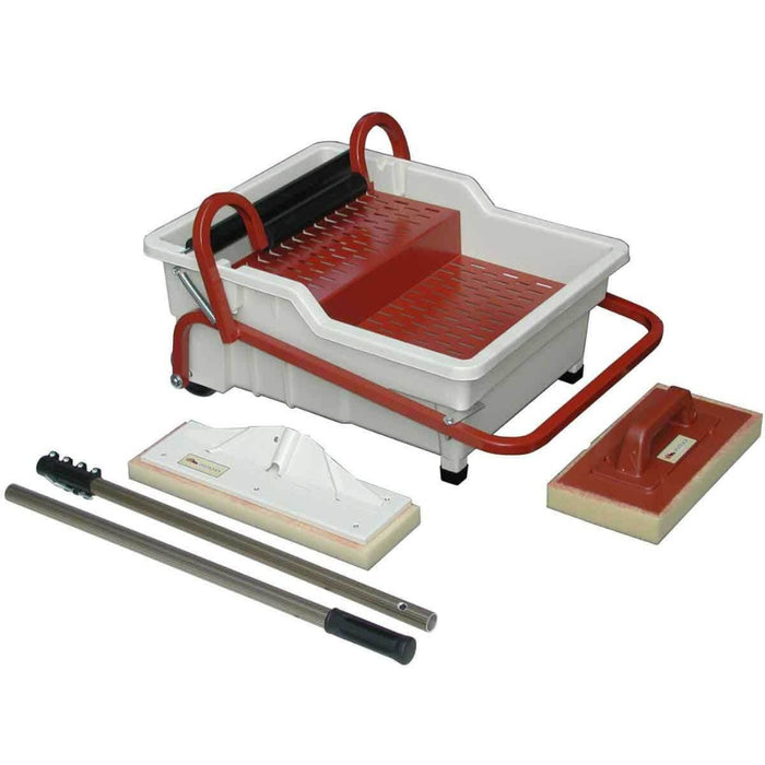 Raimondi Pedalo Washmaster Station is used for cleaning grout on walls and floors