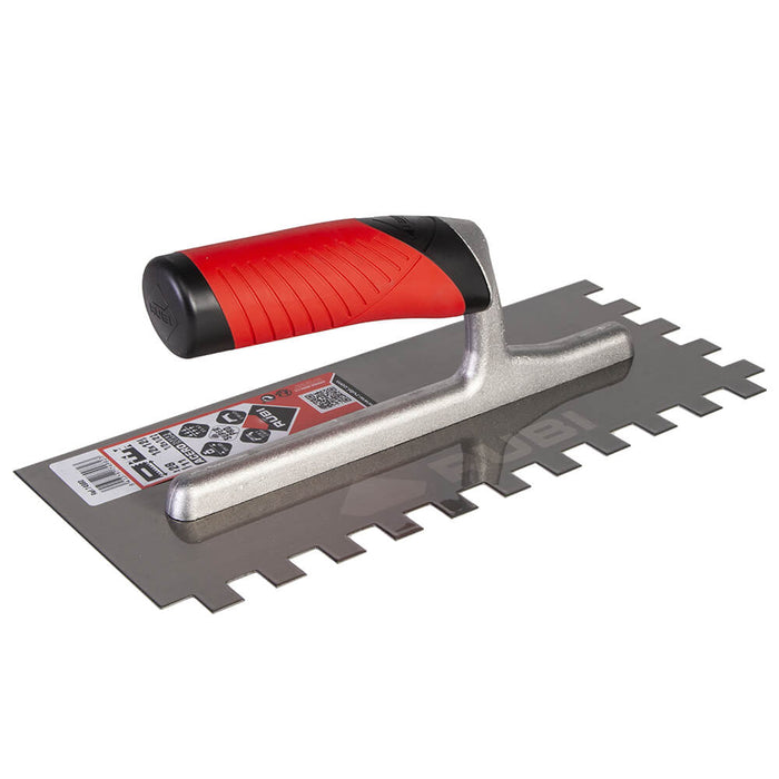 Rubi square notch for spreading adhesive on ceramic, porcelain, marble, and other large tiles