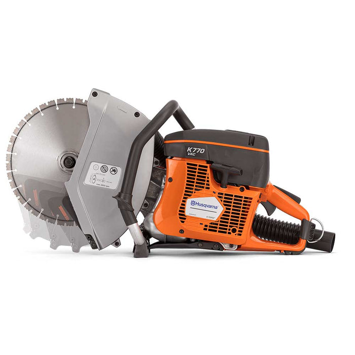 Husqvarna K 770 VAC Gas Power Cutter, with retractable cutting head