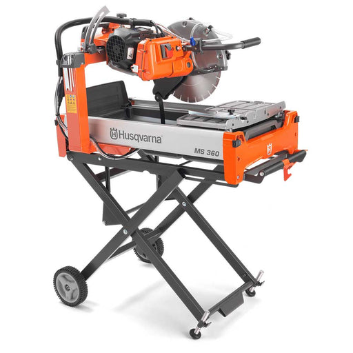 Husqvarna MS 360 Electric Masonry Saw with optional folding stand