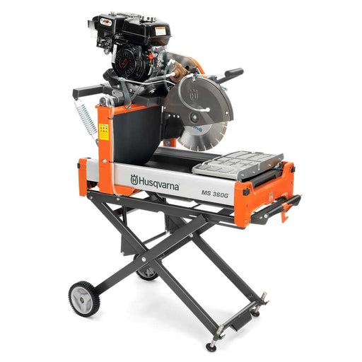 Husqvarna MS 360G Gas Masonry Saw with optional folding stand