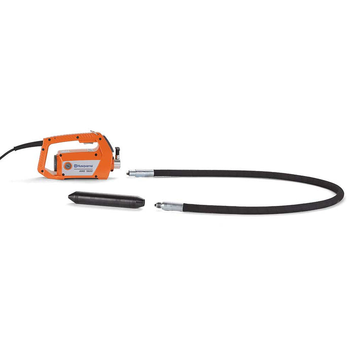 Husqvarna AT Series Concrete Vibrator Head with power unit and shaft