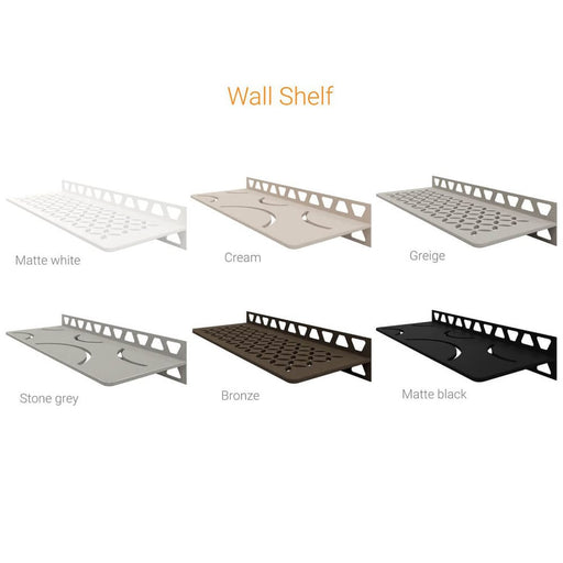 Schluter-SHELF-W wall shelf for tiled showers